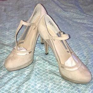 Nude Suede Pumps, US Size 9, Never Worn